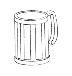 Glass mug empty beverage drink icon vector