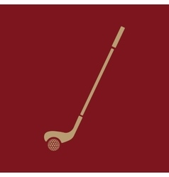 Golf icon game symbol flat vector