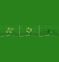 green drops mint clover aloe 3d realistic vector image