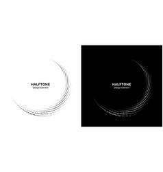halftone circle dotted frame set halftone frame vector image