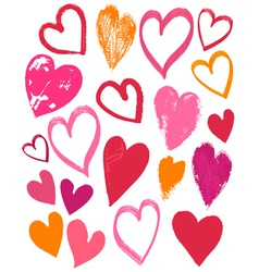 hand drawing valentines heart vector image