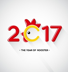 Happy New Year 2017-The year of rooster concept vector