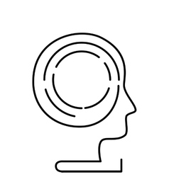 Head human profile icon vector