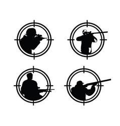 hunter logo man logo design vector image