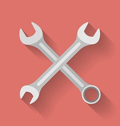 Icon of Wrench Flat style vector image