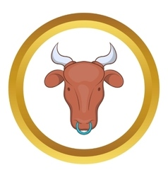 Indian cow icon vector