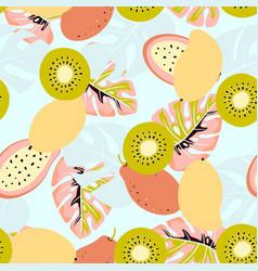 Kiwi and mango pattern vector