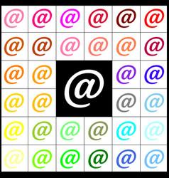 mail sign felt-pen 33 vector image vector image