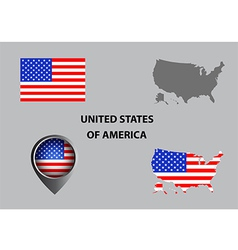 Map of USA and symbol vector