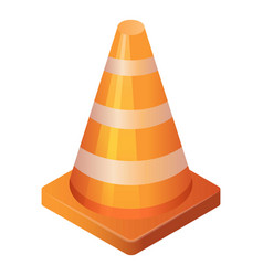 Marking road cone icon isometric style vector