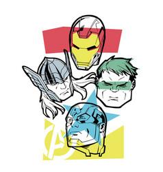 Marvel superheroes vector