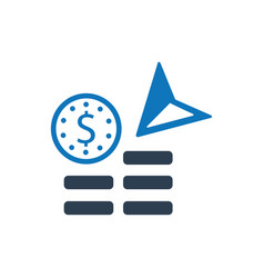 Money credited icon vector