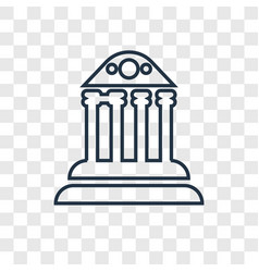 museum concept linear icon isolated on vector image