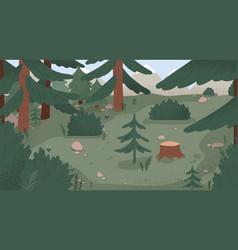 Natural forest landscape flat vector