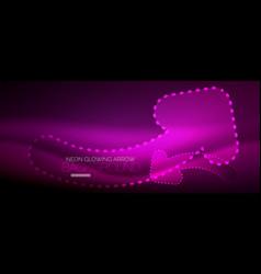 Neon techno arrow digital abstract background vector
