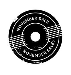 November sale rubber stamp vector
