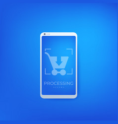 Order shopping online purchase with phone vector