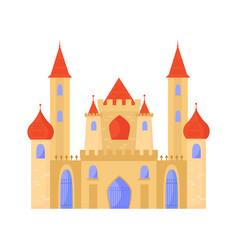 Oriental castle arabic baroque style elegant vector