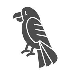 Parrot solid icon bird vector