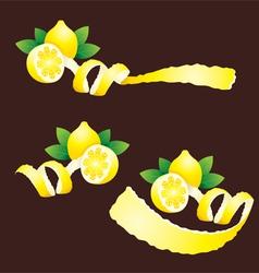 Peel Lemon Ribbon Like vector