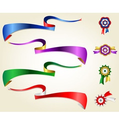 Ribbon set 1 vector image