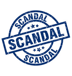 Scandal blue round grunge stamp vector