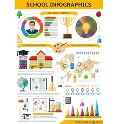 School Infographics Template vector