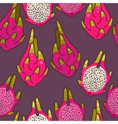 Seamless dragon fruit vector image