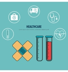 Set healthcare services medical isolated vector