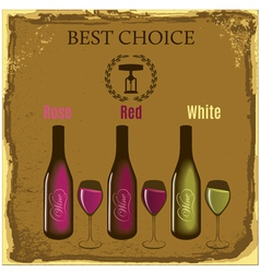set labels for wine with bunch grapes and barre vector image