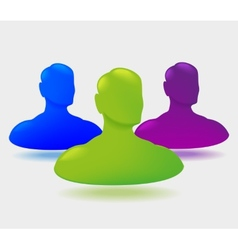 Shiny people icon design vector