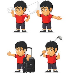 Soccer Boy Customizable Mascot 16 vector