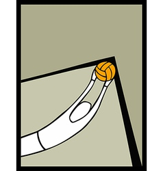 soccer goalkeeper catching a shot vector image