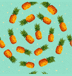 Summer pineapple background in low poly art vector