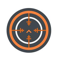 Svd gun aim icon flat style vector