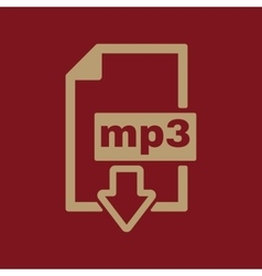 The mp3 icon File audio format symbol Flat vector