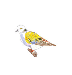 Turtle dove for 12 days christmas charms vector