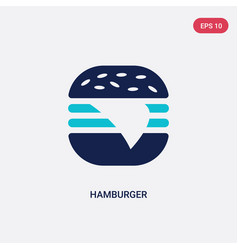 two color hamburger icon from american football vector image