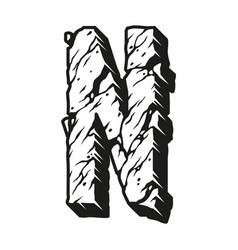 Vintage letter n in desert design vector