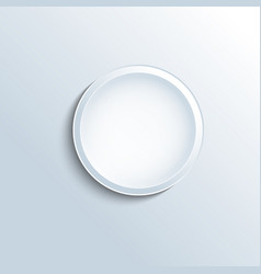 white concave button vector image