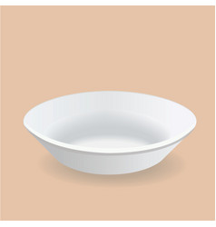 White plate deep design vector