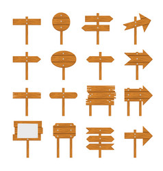 wooden signboards wood arrow vector image