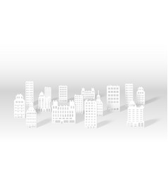 a 3d paper city skyline vector image vector image