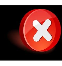 Cancel icon vector
