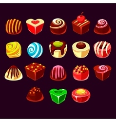 Candies cute sweet game elements vector image vector image