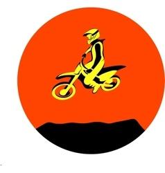 Dirt biker jump vector image