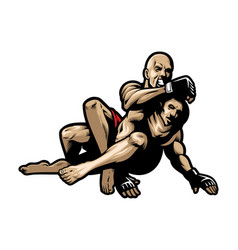 mma fighting vector image