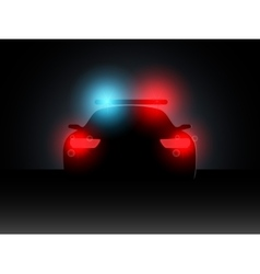 Police car in the dark with the included vector image vector image