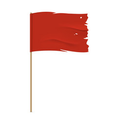 torn red flag template vector image