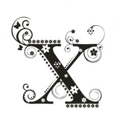 x vector image vector image
